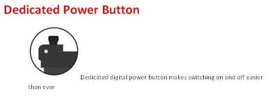 DX1 Dedicated Power Button logo